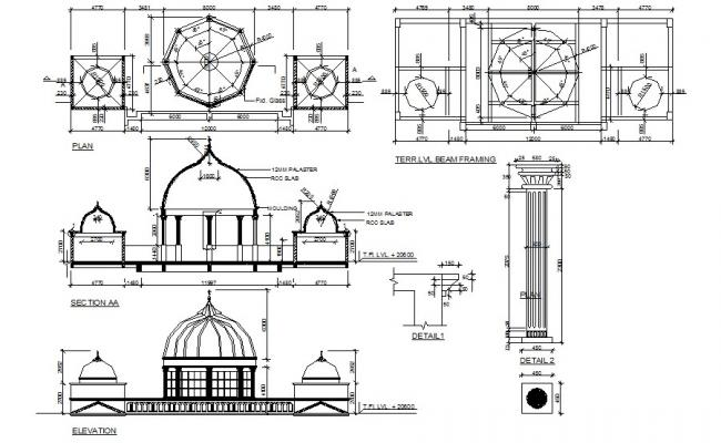 Mosque Plan In AutoCAD File