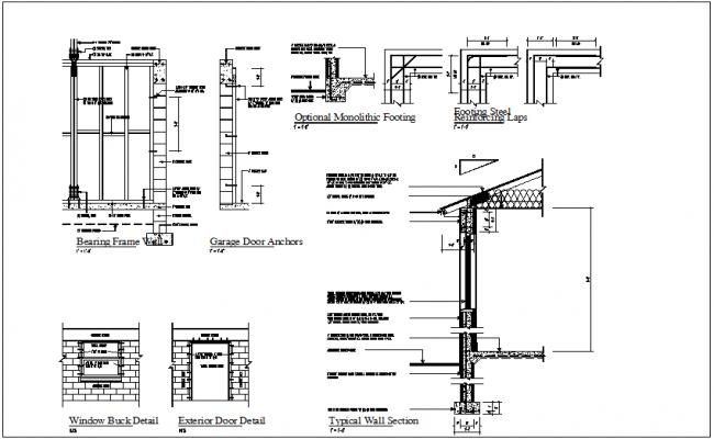 Building plan in elevation detail dwg files