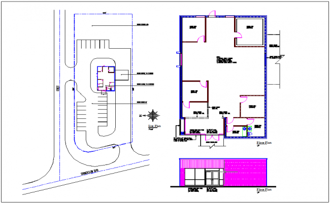 Building plan layout & map layout of existing building view detail dwg file