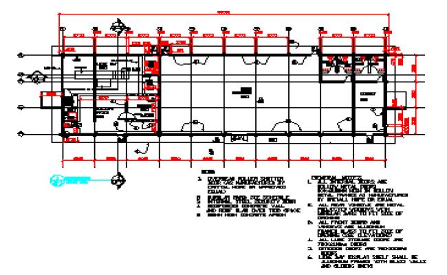Building plan layout design drawing