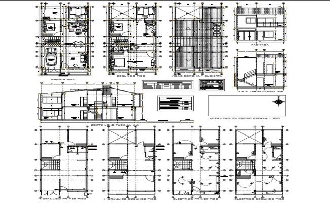 Building plan of detail dimension in autocad