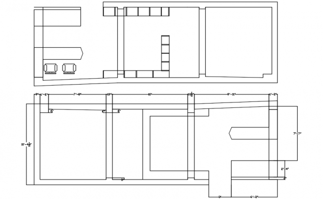Detached House Plan In DWG File