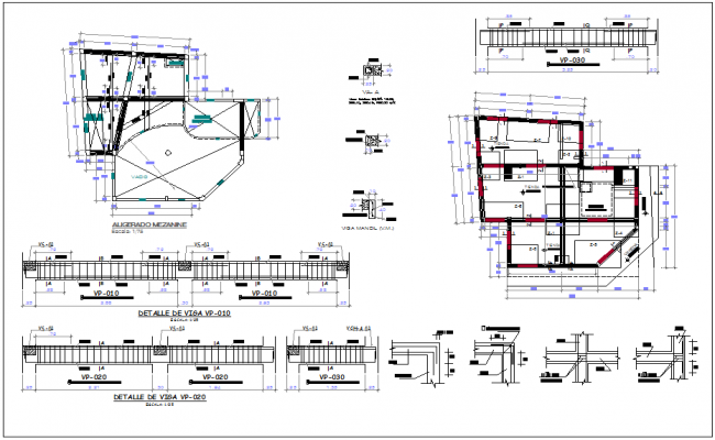 Building planning and structure detailing dwg file
