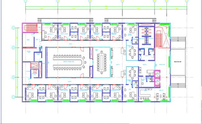 Building second floor furniture plan