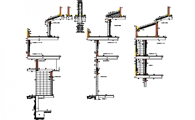 Building section detail dwg file