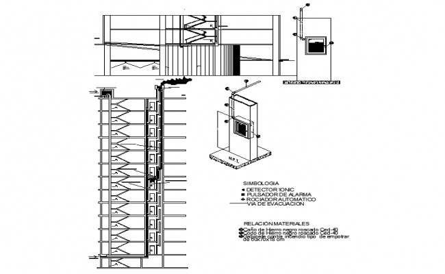 Building sections detail in cad