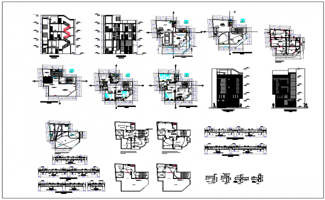 Building structure layout and planning dwg file