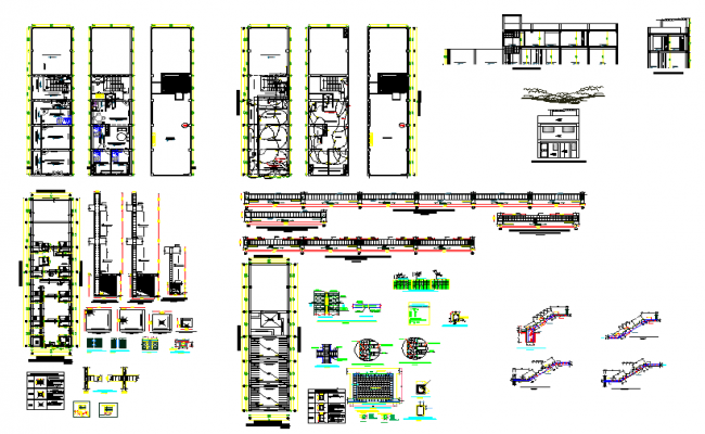 Building structure plan and layout with detailing dwg file
