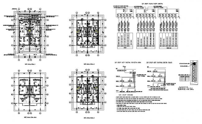 Building structure plan detail CAD constructive unit layout file in dwg format
