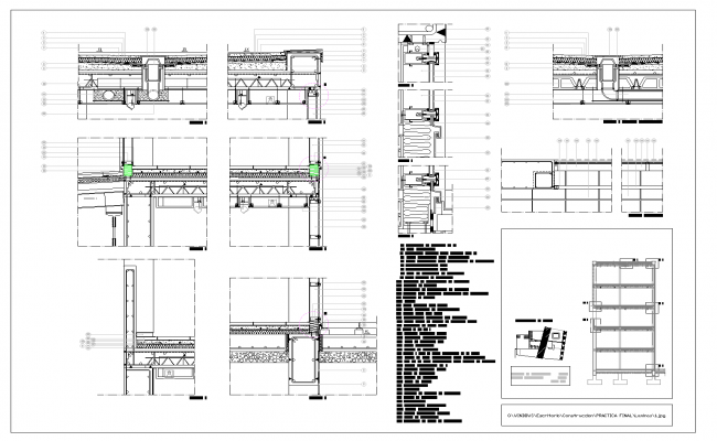 Building temporary expositions plan detail dwg file.