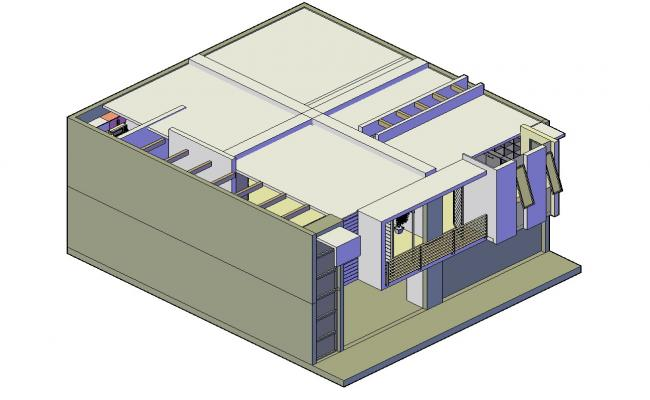 Bungalow 3d model Download CAD Drawing