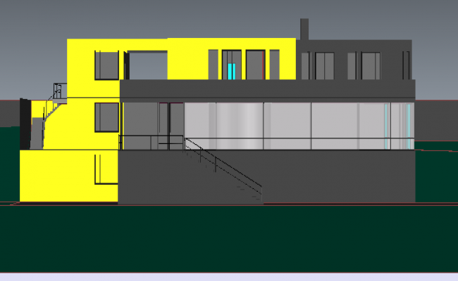 Bungalow Architecture Design and 3d Elevation dwg file