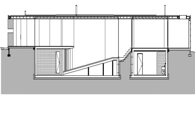 Bungalow Architecture Design dwg file