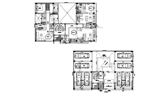 Bungalow Building Designs In AutoCAD File