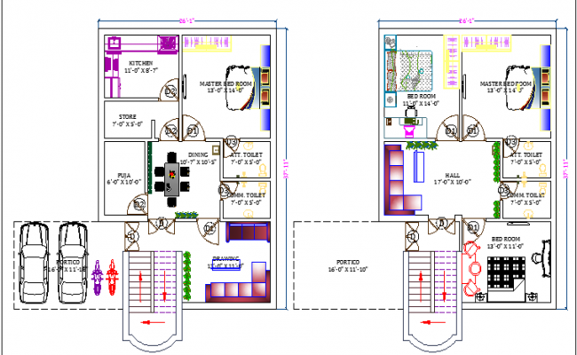 Bungalow Design And Elevation dwg file