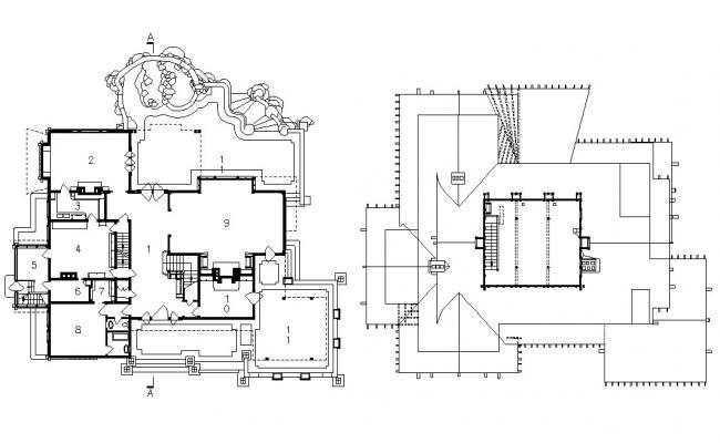 Bungalow Design CAD Drawing Plan