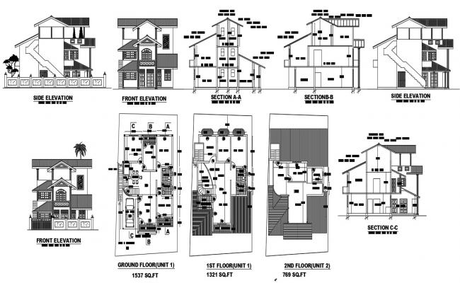 Bungalow Design CAD File