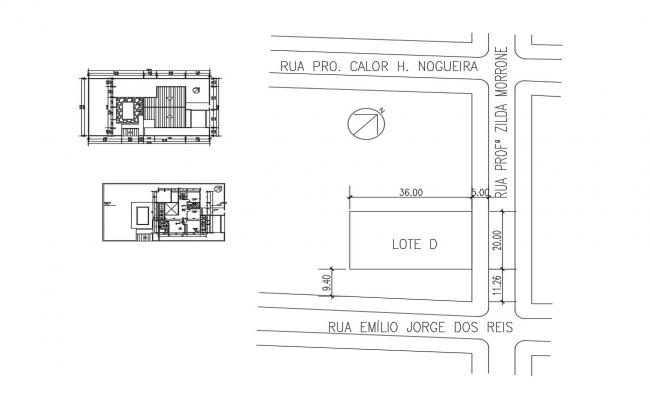 Bungalow Design DWG File Free Download