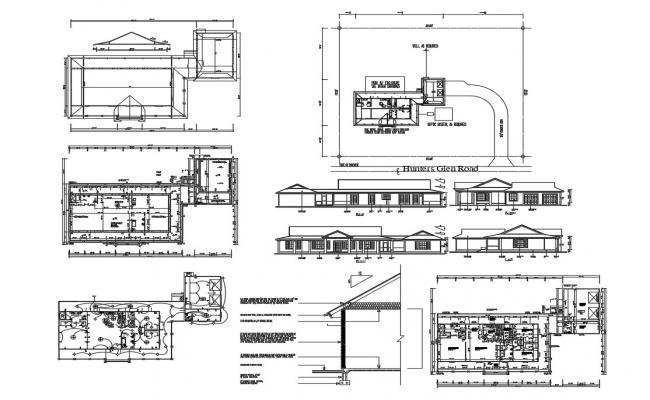 Bungalow Design Plan AutoCAD File