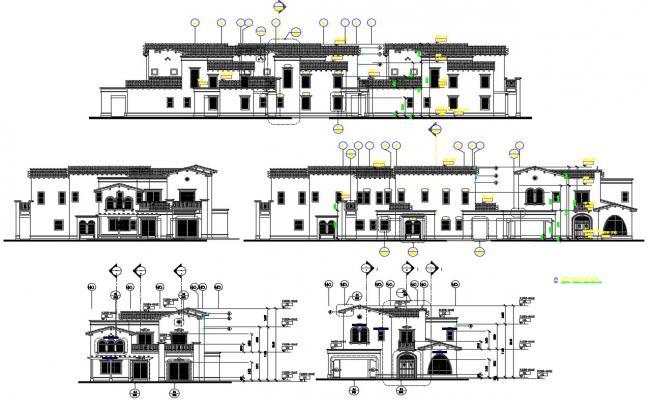 Bungalow Elevation CAD File