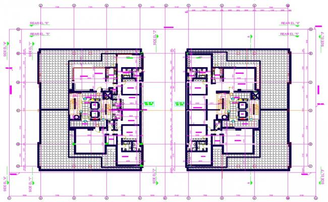 Bungalow House Cad Plan Dwg