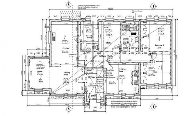 Bungalow House Design CAD File