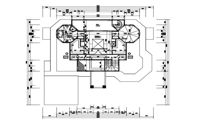 Bungalow House Floor Plan With Working Drawing CAD File Format