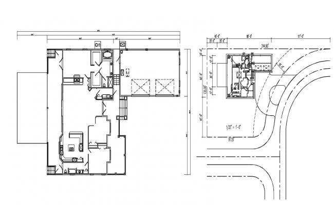 Bungalow Layout Design Plan AutoCAD file