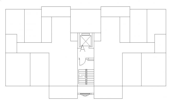 Bungalow Line Plan AutoCAD Drawing Free Download
