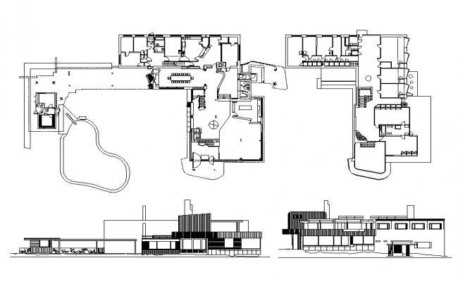 Bungalow Plan CAD file