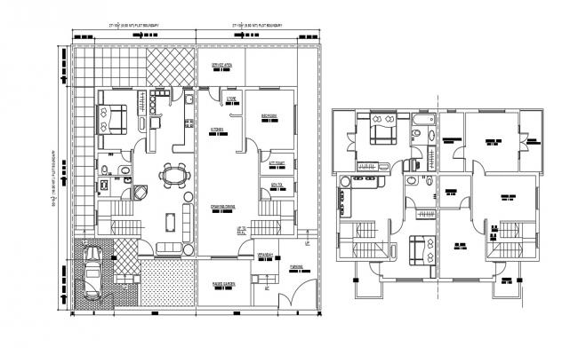 Bungalow Plans CAD File Free Download