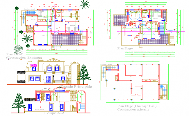 Bungalow Project detailing dwg file