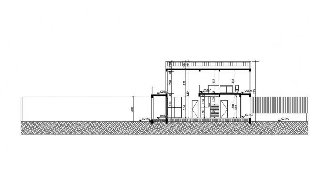 Bungalow Section AutoCAD file free download