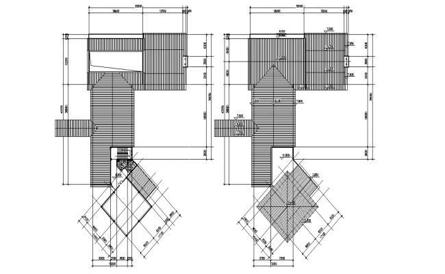 Bungalow Terrace Plan CAD File