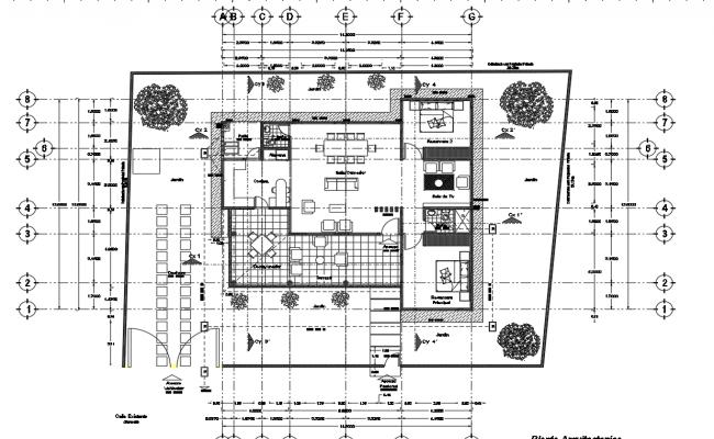 Bungalow architectural plan