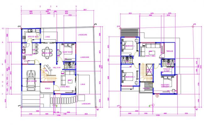 Bungalow design plan