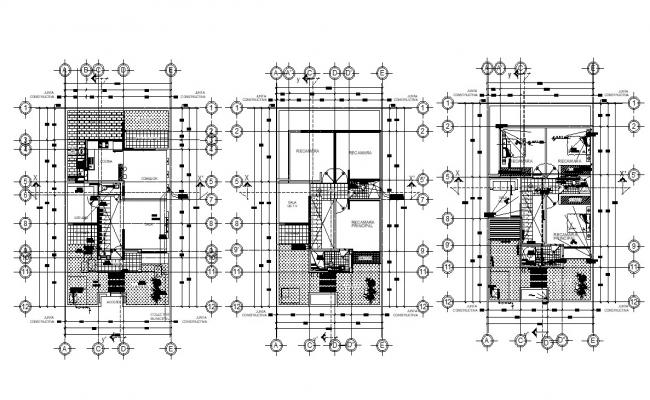 Bungalow designing Architecture Plan 2d CAD Drawing