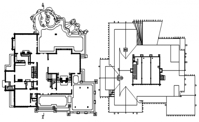 Bungalow Drawing Plan In AutoCAD File