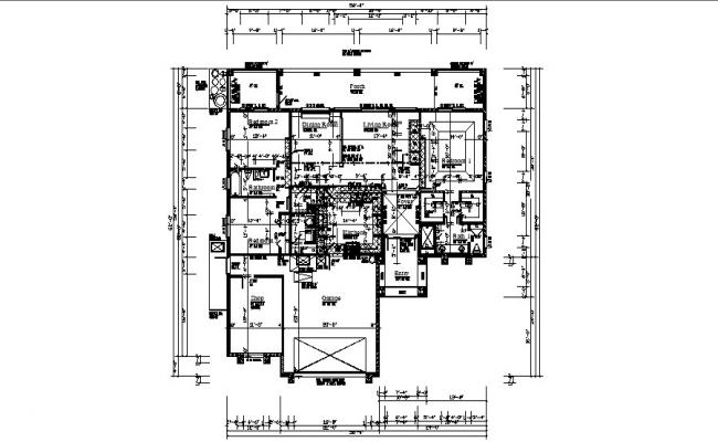 Download Free Bungalow Plan In AutoCAD File