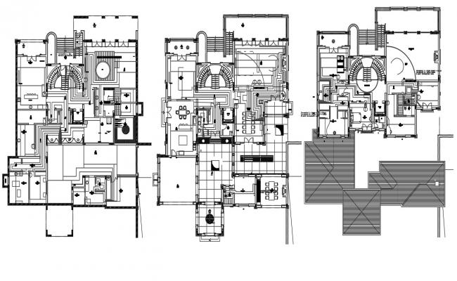 Residence Bungalow Drawing In DWG File