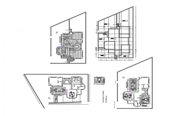 Bungalow Floor Plan And Cover Plan Cad Drawing Details Dwg File