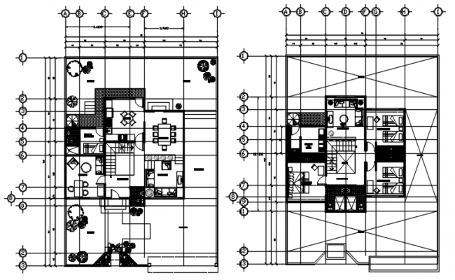 Bungalow plan 15.00mtr x 19.08mtr with detail dimension in dwg file