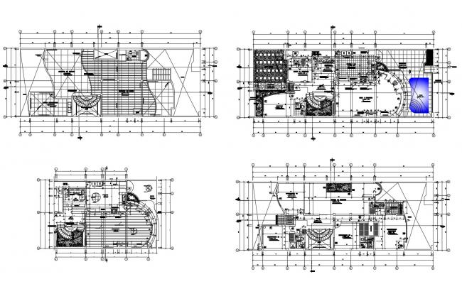 Bungalow plan 26.80mtr x 10.00mtr with detail dimension in dwg file