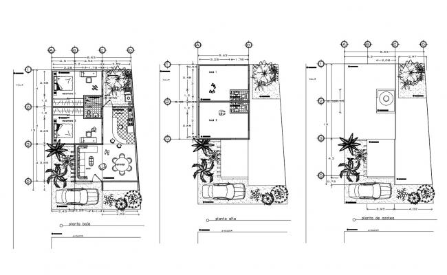 Download Free Bungalow house plans in DWG file