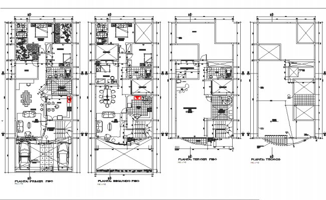 Bungalow plan detail dwg file