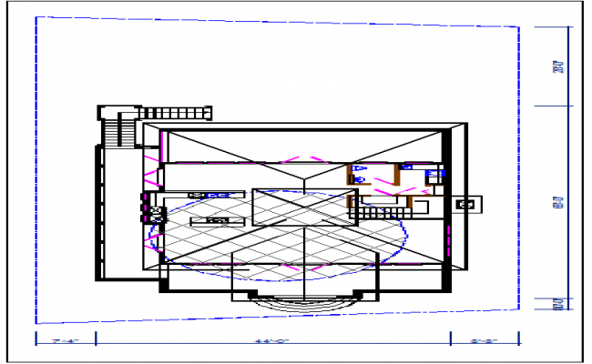 Bungalow plan details dwg file