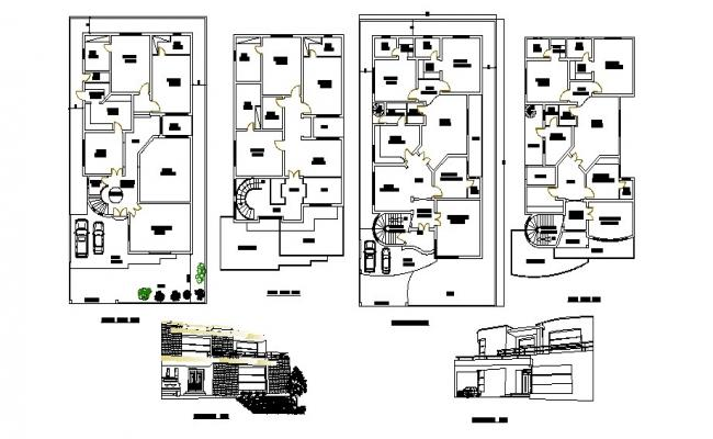 Download Free Luxury House Plan In DWG File