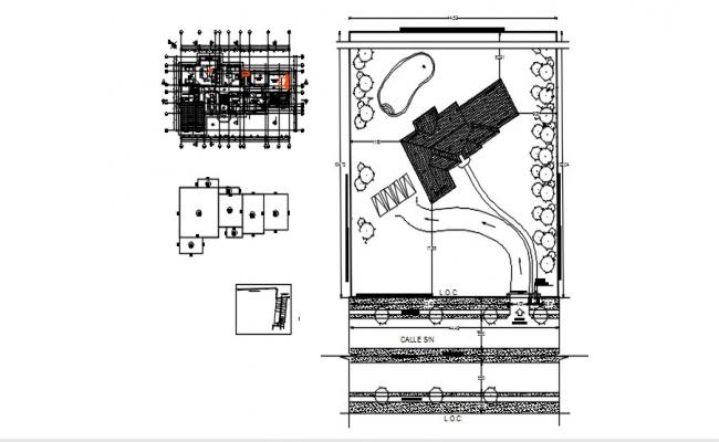 Bungalow Layout Plan In DWG File