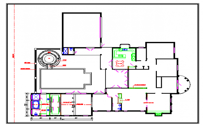 Bungalows Lay-out plan Design