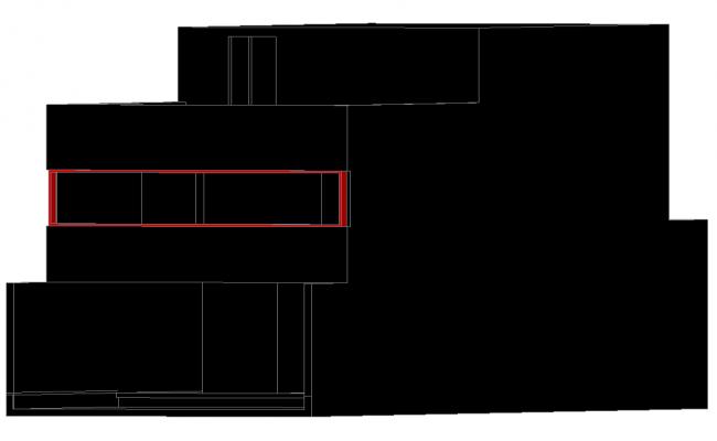 Burga house 3 d plan detail dwg file